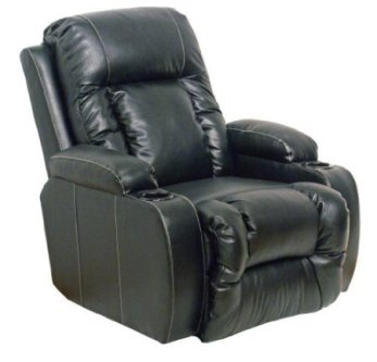 Leather Power Recliner Chair with Cup Holders