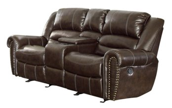 Power recliner loveseat with console